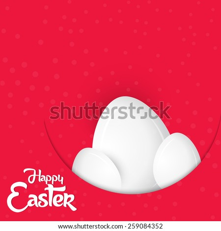 creative abstract for Happy Easter with set of eggs in a dark red coloured background.  - stock vector