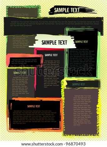 Creative abstract grunge modern design website template - stock vector