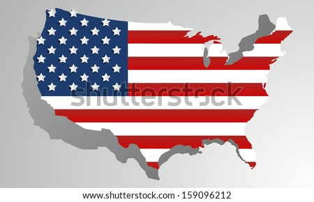 Creative abstract USA map vector illustration - stock vector