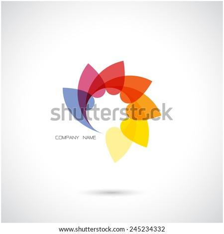Creative abstract vector logo design template.Vector illustration. - stock vector