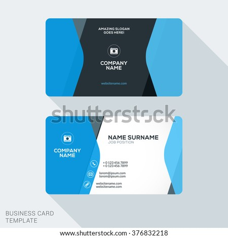 Creative clean corporate business card template stock vector creative clean corporate business card template stock vector 376832218 shutterstock accmission Image collections