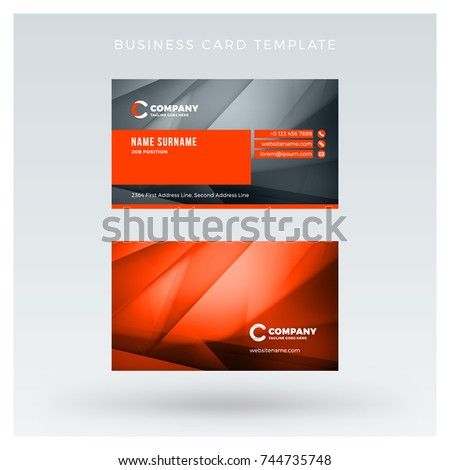 Creative clean doublesided business card vector stock vector hd creative clean doublesided business card vector stock vector hd royalty free 744735748 shutterstock reheart Gallery