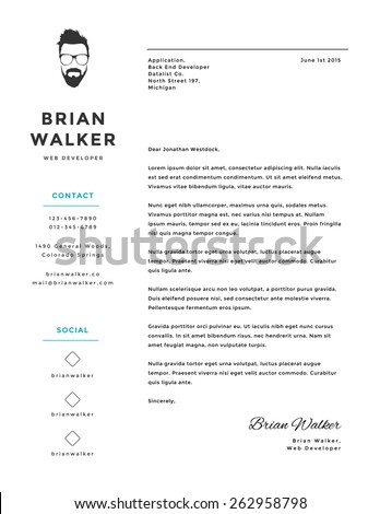 Awesome Creative And Minimalistic Personal Vector Cover Letter Template  Creative Cover Letters