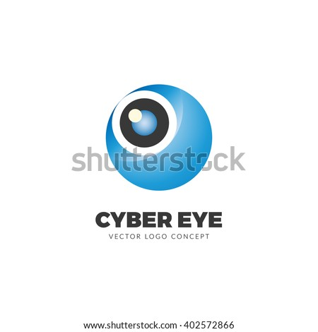 Creative and unique logo design of a spy eye. This logo is well suited for: security agency, security services, private security company, private detective, antivirus firms, defense industry. - stock vector