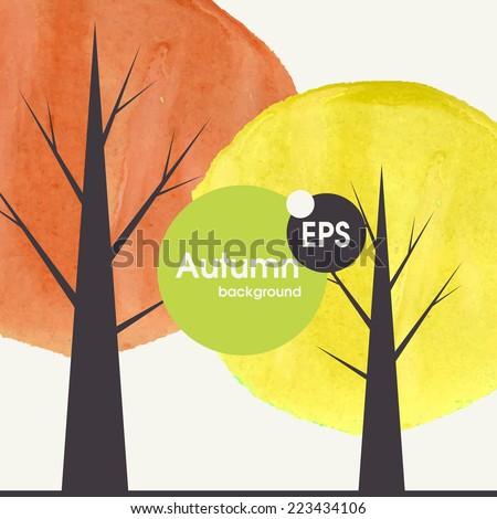 Creative Autumn Background.  Vector Illustration. Eps 10 - stock vector