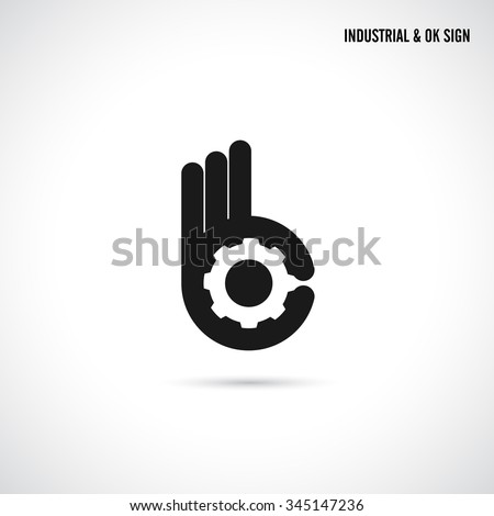 Creative B letter icon abstract logo design vector template.Letter B fingers vector sign.Hand Ok symbol icon.Corporate business and industrial creative logotype symbol.Vector illustration - stock vector