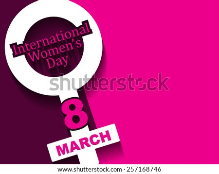 Creative background design for women's day.  - stock vector