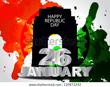 Creative background for indian Republic Day. - stock vector