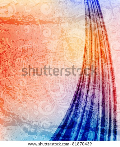 Creative background with ornament, grunge texture. Eps10 layered vector file.