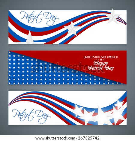 creative banner for Patriot Day with nice and creative background effect. - stock vector