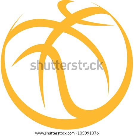 Creative Basketball Illustration - stock vector