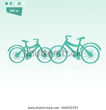 Creative bike flat design vector illustration