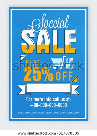 Creative Blue Flyer Template Banner Design Stock Vector 317878505