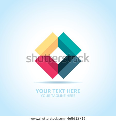 Creative Box abstract emblem, design concept, logo, logotype element for template.