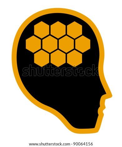 Creative brain - stock vector