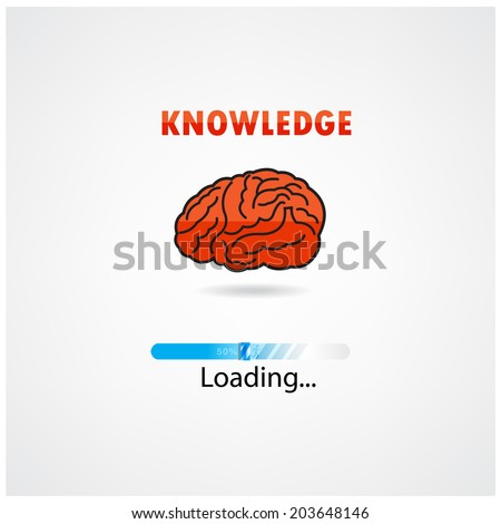 creative brain loading on background,design for poster flyer cover brochure ,business idea ,education concept.vector illustration - stock vector