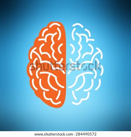 Creative brain vector concept. - stock vector