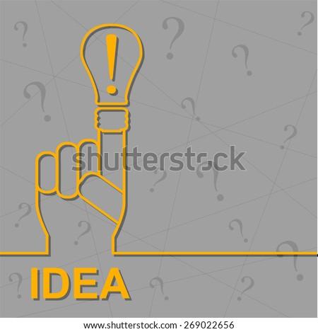 Creative brainstorming method. Decision making. - stock vector