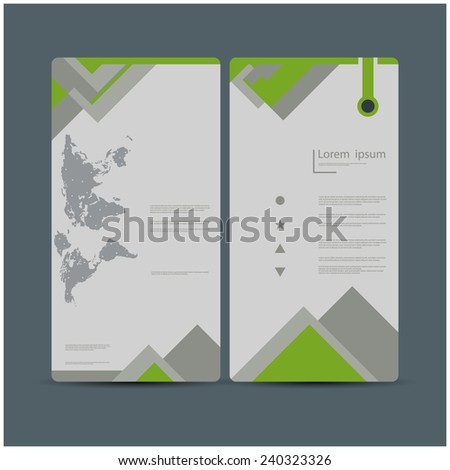 Creative brochure design / flyer, eps10 Vector. - stock vector