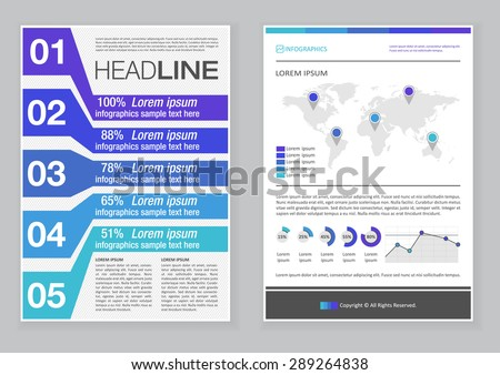 Amazing Creative Brochure Template Design With Infographic Chart. Abstract Vector  Flyer, Pamphlet, Leaflet Layout Ideas Pamphlet Layout Template