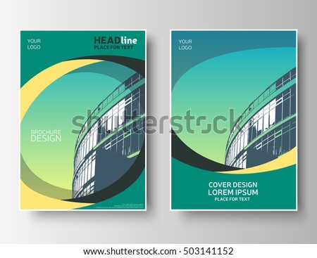Creative Brochure Template Green Flyer Layout Stock Vector 2018