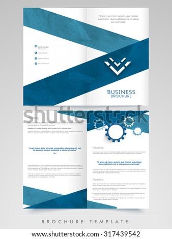 Creative Brochure Template Flyer Presentation Decorated Stock Vector ...