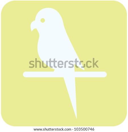 Creative Budgerigar Parrot Icon - stock vector