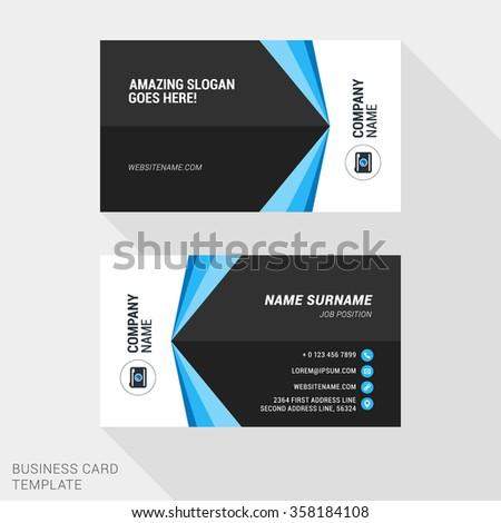 Creative business card print template flat stock vector 358184108 creative business card print template flat stock vector 358184108 shutterstock colourmoves