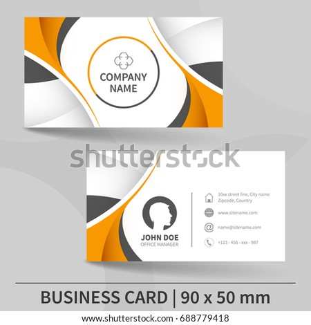 Creative business card template editable vector stock vector creative business card template editable vector design reheart Image collections