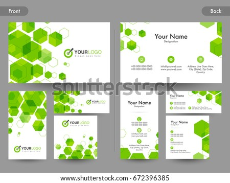 Creative Business Card Visiting Card Name Stock Vector 672396385 ...