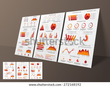 Creative business infographic flyer, template or brochure with different elements, can be used for marketing, website, print, presentation etc. - stock vector