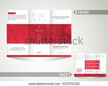 Creative Business Trifold Brochure Template Flyer Stock Vector - Tri brochure template