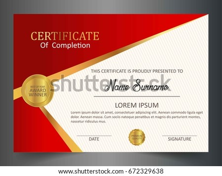 Creative certificate template clean modern patternvector stock creative certificate template with clean and modern patternvector illustration yadclub Images