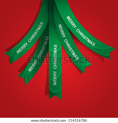 Creative Christmas tree formed from ribbons. Vector eps10 - stock vector