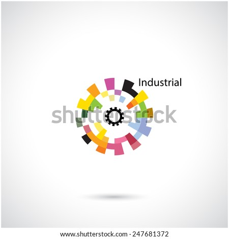 Creative circle abstract vector logo design template. Corporate business industrial creative logotype symbol.Vector illustration - stock vector