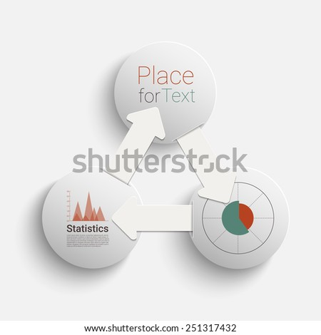 Creative circles with arrows for infographic. Template for timeline , graph, presentation and chart. Business concept with options. Eps10 vector for your design - stock vector