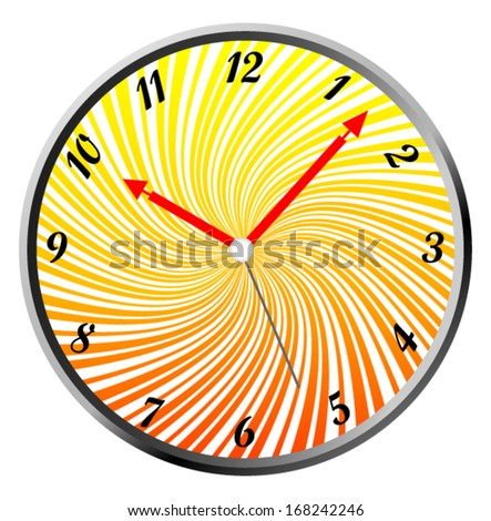creative clock design background colorful