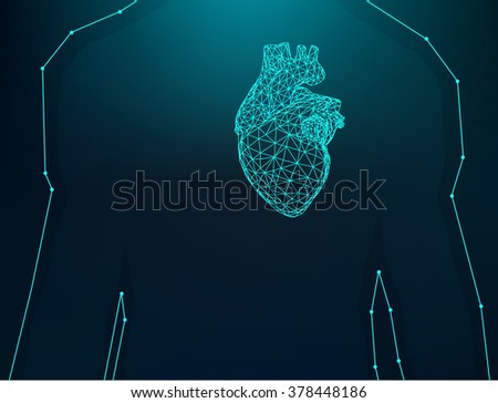 Creative concept Background of the human heart. Vector Illustration eps 10 for your design. - stock vector