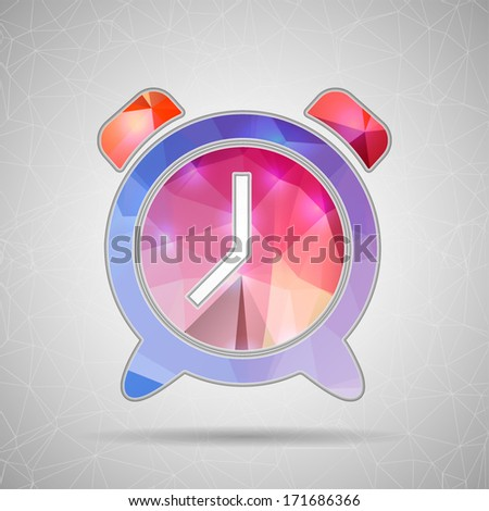 Creative concept vector icon of alarm clock for Web and Mobile Applications isolated on background. Vector illustration creative template design, Business software and social media. - stock vector