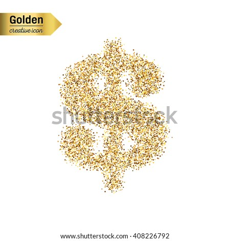 Creative concept vector icon of dollar for Web and Mobile Applications  isolated on white background. Vector illustration creative template design, Business software and social media. - stock vector