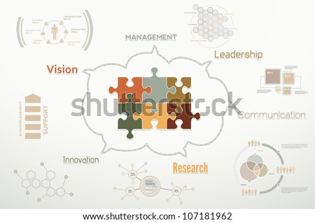 Creative corporate teamwork infographics for business reports and teams - stock vector