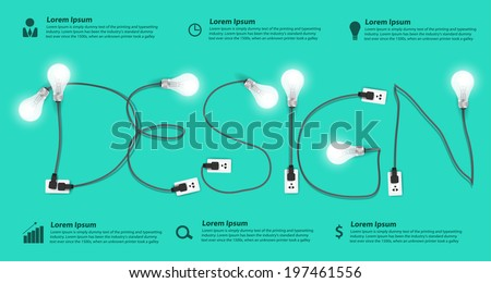 Creative design light bulb idea abstract infographic, Inspiration concept modern template workflow layout, diagram, step up options, Vector illustration - stock vector