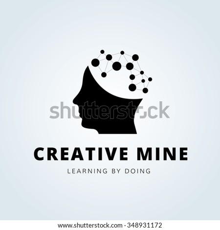 Creative Design Logo Template. Man - stock vector