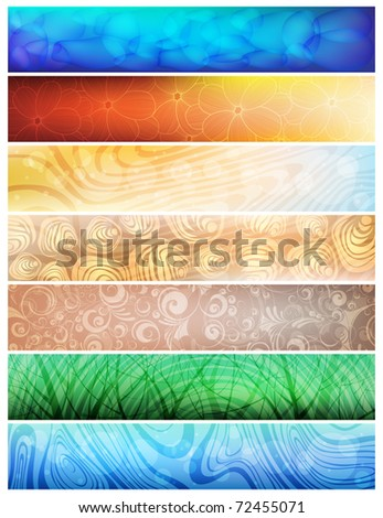 Creative design, nature theme vector banners. eps10 - stock vector