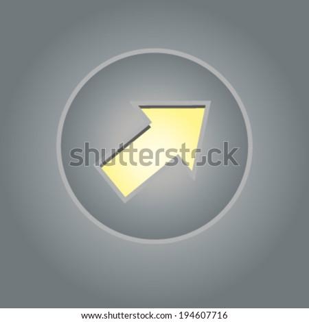 Creative design of cursor. Fully editable vector. - stock vector