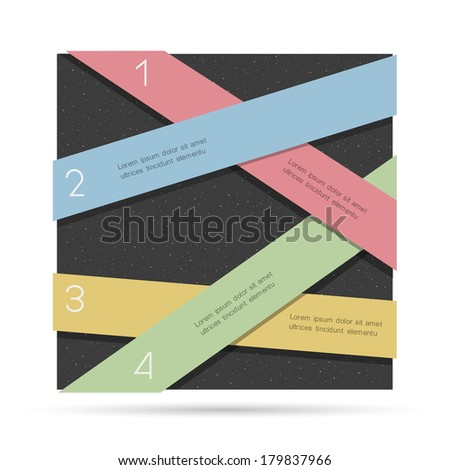 Creative Design template for infographics, numbered banners.Vector EPS10  - stock vector