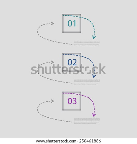 Creative Design template / number banners / procedure steps. - stock vector
