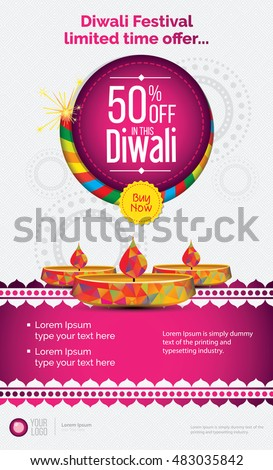 Creative Diwali Festival Offer Poster Design