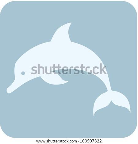 Creative Dolphin Icon - stock vector