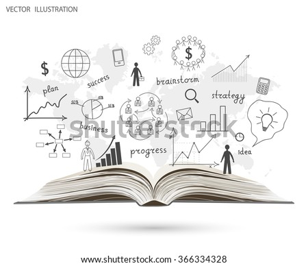 Creative drawing world map graphs charts vector de stock366334328 creative drawing world map graphs and charts business strategy plan concept idea on an open gumiabroncs Images